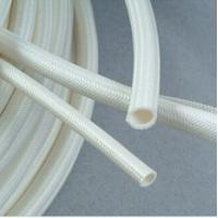 Wite Silicone Coated Fiberglass Sleeving 30 Seconds Off-self time
