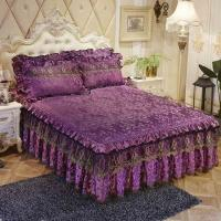 Buy Luxury Lace Bedding Bed Skirt set Thick bed sheet Bedspread Bed Linen Princess at wholesale prices