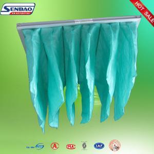 Quality F5 F6 F7 HVAC Ventilation System Pocket Air Filter Aluminum Frame for sale