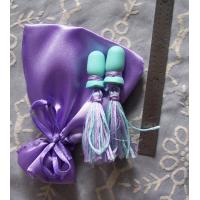 Quality Blue Satin Drawstring Bag Custom Eco Friendly Simple for Earrings for sale