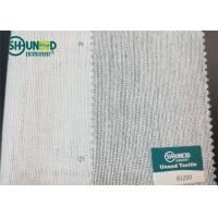 Buy White Brushed Woven Interlining With PA High Bonding Strength For Overcoat at wholesale prices