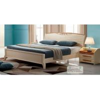Buy cheap Adults Low Headboard Light Wood Queen Beds , Full Size Wooden Bed Frame With Headboard product