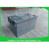 Quality Customzied Plastic Moving Boxes For Warehouse , Attached Lid Totes for sale