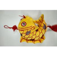 Buy cheap Flocking Cloth The Auspicious Yellow Carp with Chinese Knot Custom Promotional Toys product