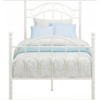 Buy Customized Color Metal Frame Single Bed , Comfortable Scrolled Metalwork Steel Furniture Bed at wholesale prices