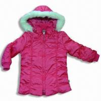 Quality Children's Jacket in 100% Nylon with Four Pockets for sale