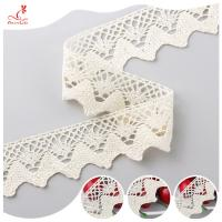 Eco - Friendly Apparel Cotton Lace Fabric Trim High Color Fastness