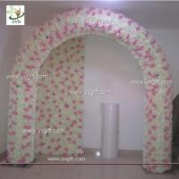 Quality UVG 2.5m artificial rose and hydrangea wedding arch in flowers for event backdrops decor for sale