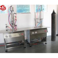 Buy cheap Bag On Valve Spray Can Filling Machine , Semi Automatic Aerosol BOV Filling Machines from wholesalers