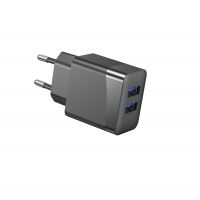 Quality Fireproof PC ErP 12W RoHS 5V3.4A European USB Charger for sale