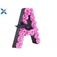 Quality Luxury Rose Gift Acrylic Flower Box A Letter Flower Box With Lid Non - Toxic for sale