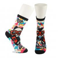 Quality Adults  OEM Service  Breathbale Eco-friendly Custom Made Size 3D-Printing Socks for sale