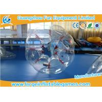 Buy cheap Red String TPU Human Sized Bubble Ball Inflatable Football Games For Adult For Kids product