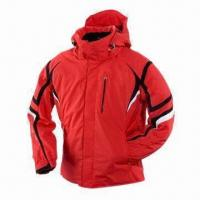 Quality Men's Water-resistant Ski Jacket, Made of 100% Polyester for sale