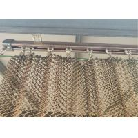 China Copper Colored Stainless Steel Wire Mesh Flat Silk Spiral Decoration Net on sale