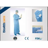 Quality EN13485 Disposable Surgical Gowns Anti - Fluid Nonwoven 4 Ties Single Use for sale