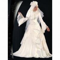 Quality Nice Long Sleeve Satin Arabic Wedding Dress, OEM Services are Welcome for sale