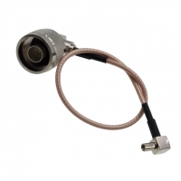 Buy cheap Right Angle N Male To R/A TS9 Male Low Loss RG316 Pigtail Coaxial Extension from wholesalers
