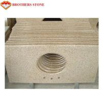 China Polished Half Bullnose G682 Rusty Yellow Granite Bathroom Vanity Tops on sale