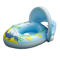 Quality Baby Inflatable Swim Ring Boat Float / Kids Water Seat with Canopy Horn for sale