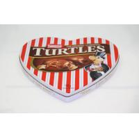 China Elegant Pantone Heart Shaped Candy Tin Cans , Tin Gift Boxes on sale