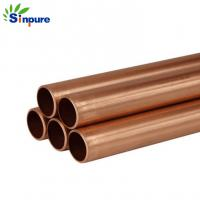 China Durable And Precise Small Brass Copper Tube Blunt End For Refrigerator on sale
