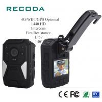 Buy cheap Real Time 4G Body Camera Video GPS Tracking Fireproof 1440P HD Police Handy from wholesalers