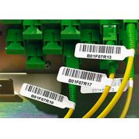 China Strong Adhesive Plastic Cable Labels Vinyl Cable Tags With Electric Wire Label on sale