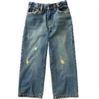 Quality Breathable Beaded Anti - Bacterial kids high waisted jeans with trendy design for sale