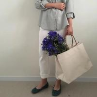 Buy Large Capacity Natural Canvas Grocery Totes , Ladies Cloth Canvas Bags at wholesale prices