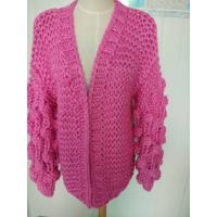 Quality Hand Knit Cardigan, Handmade Sweater, Handcrafted Pullover for sale