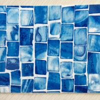 Quality 1.5mm, 1.83*25m Hot selling Durable PVC Blue Mosaic Swimming Pool Liner Material for sale