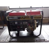 Quality 2KW Red Portable Silent Power Generators With Electric Start And Hand Start System for sale