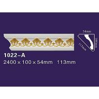 Quality Elegant Style PU Decorative Curved Moulding PU Wall Cornice 1022 for sale