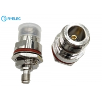 Quality N Female With Nut Fixed To SMA Female With Waterproof Aluminum RF Connector for sale