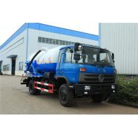 Quality 10 Ton Suction Sewage Truck Dongfeng 170hp 10m3 Vacuum Sewer Suction Tanker for sale