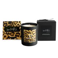 China 100% Natural Organic Handmade Jar Candles Scented Soy Wax Candle Leopard Printing on sale