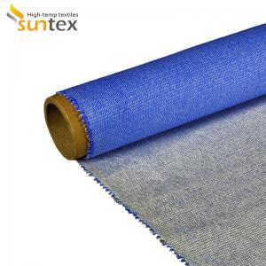 China Heat Insulation Silicone Coated Fiberglass Fabric For Fire / Smoke Curtain on sale