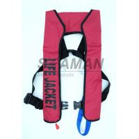 Quality 150N EN / ISO Automatic Inflatable Life Jackets 210D Nylon TPU Single Air Chamber for sale
