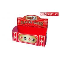 Quality POS Cardboard Counter Display Stands , Custom Cardboard Playing Cards Display for sale