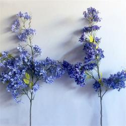 China Safe Jacaranda Wood Purple Artificial Flower Tree Fire Retardant for sale