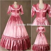 Quality Wholesale Civil War Victorian Gothic Dress Ball Gown Southern Belle Dress Cosplay Costumes by Satin with XXS to XXXL for sale