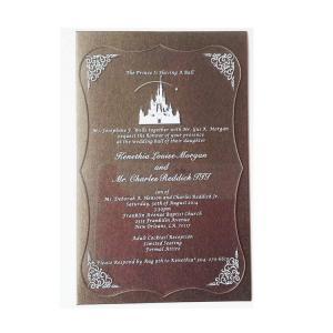 Quality Clear Acrylic Display Frame Black Custom Acrylic Wedding Invitation Card for sale