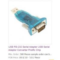 China USB RS-232 Serial Adapter USB Serial Adaptor Converter Prolific Chip on sale