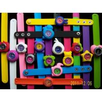 Quality Children Kids Silicone Slap Wrsitband Watches for sale