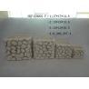 Semi - Porcelain Indoor Succulent Plants Pot Pebble Design 16.5 X 16.5 X 21 Cm