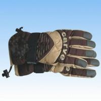 Quality Men's Nylon Brown Ski Gloves for sale