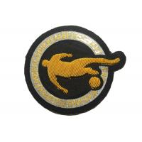 China Sport Embroidered Football Badges Print Embroidered Iron On Patches on sale