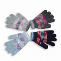 Quality Mixed Yarn Jacquard Magic Glove for sale