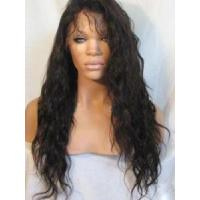 China Black 100% Remy Human Hair Wigs on sale